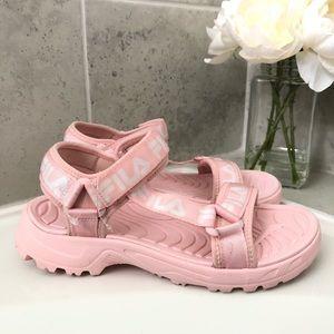 FILA Pink Strap Women's Sandal - Size 8